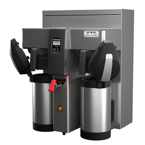 Fetco CBS-2132XTS E213252 XTS Series Stainless Steel Double Automatic Coffee Brewer - 240V, 4200-6100W