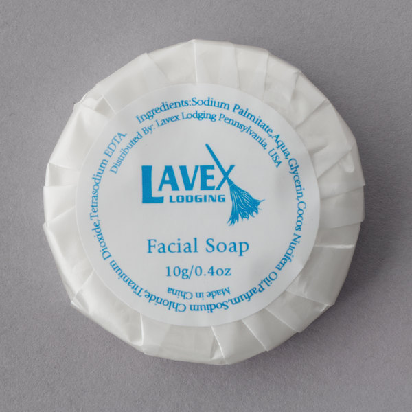 Lavex Lodging 0.42 oz. Hotel and Motel Round Wrapped Face Soap - 1000/Case