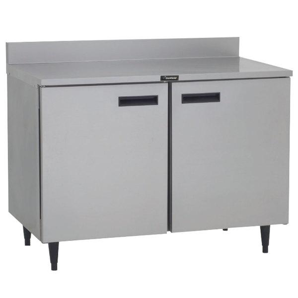 "Delfield ST4048P 48"" Worktop Refrigerator with Two Doors and Backsplash"
