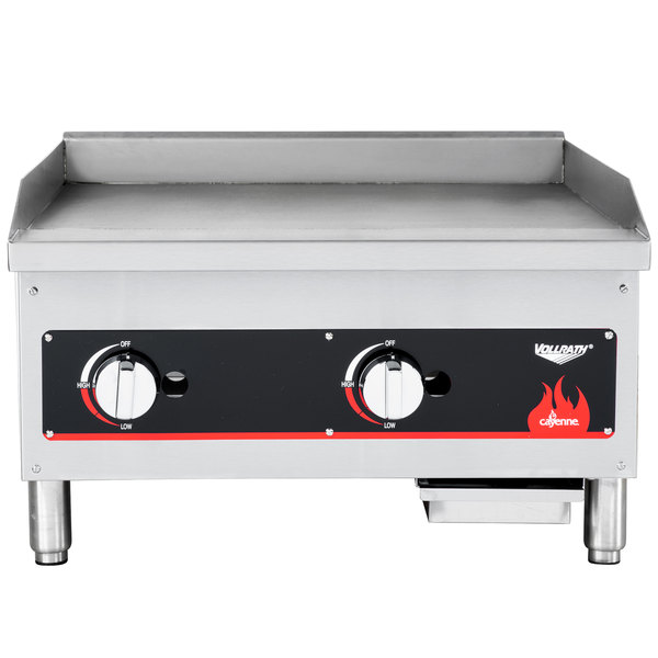 "Vollrath 40720 Cayenne 24"" Flat Top Gas Countertop Griddle - Manual Control"