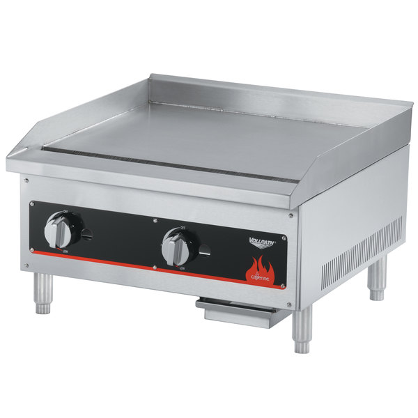 """Vollrath 40720 Cayenne 24"""" Flat Top Gas Countertop Griddle - Manual Control"""