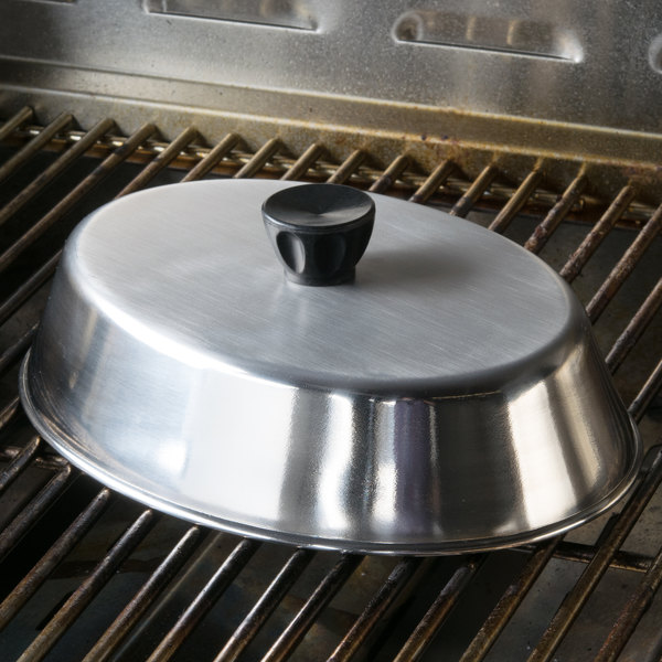 """American Metalcraft BAOV795S - 9 1/4"""" x 6 7/8"""" Oval Stainless Steel Basting Cover Main Image 5"""