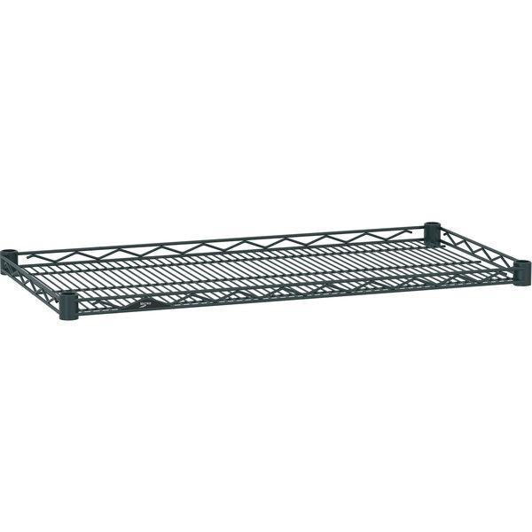 "Metro HDM2436-DSG Super Erecta Smoked Glass Drop Mat Wire Shelf - 24"" x 36"""