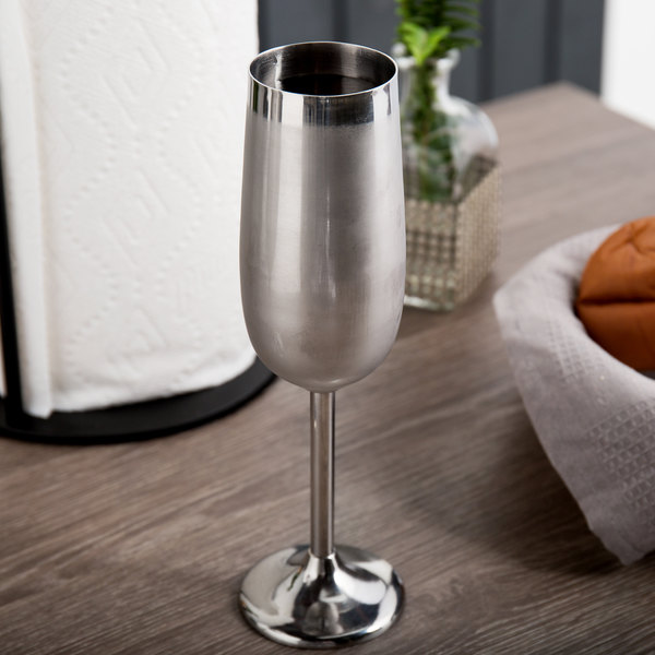 Mirror Finish Stainless Steel Champagne Flute