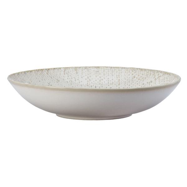 Oneida L6800000760 Knit 7 oz. Porcelain Deep Coupe Plate / Low Bowl - 48/Case Main Image 1