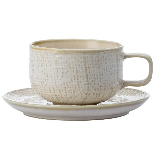 """Oneida L6200000500 Knit 5 1/2"""" Porcelain Saucer - 48/Case"""