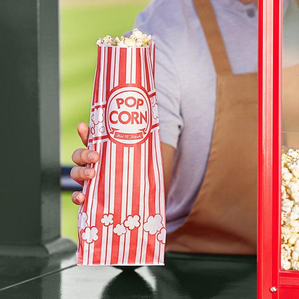 """Carnival King 4 3/4"""" x 1"""" x 12"""" 2 oz. Popcorn Bag - 2000/Case Main Image 2"""