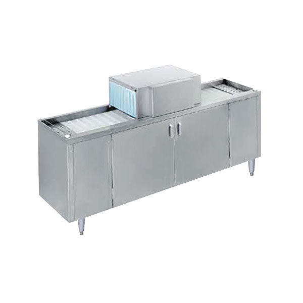 """Champion CG6 Low Temperature 72"""" Pass-Through Glass Washer, Left to Right - 208/230V"""