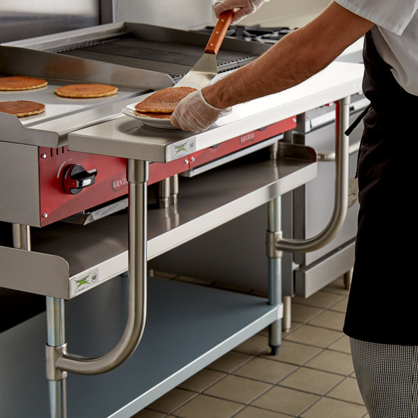 """Regency 10"""" x 48"""" Stainless Steel Adjustable Work Surface for 48"""" Long Equipment Stands Main Image 3"""