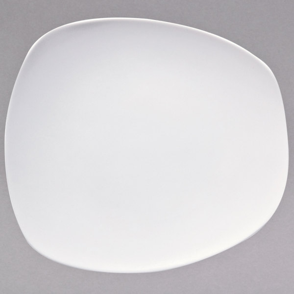 "Oneida L5750000125 Stage 7 1/4"" x 6 1/2"" Warm White Porcelain Plate - 36/Case Main Image 1"