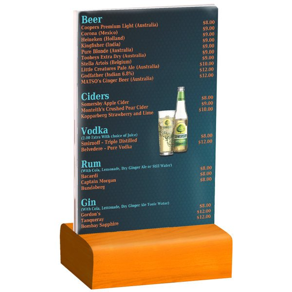 Menu Solutions WBCLA X Clear Acrylic Table Tent With Solid - 4x6 table tent