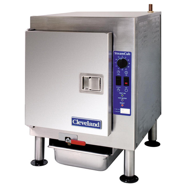 Cleveland 1SCEMCS SteamCub 5 Pan Electric Countertop Connectionless Steamer - 440/480V, 3 Phase, 12 kW Main Image 1