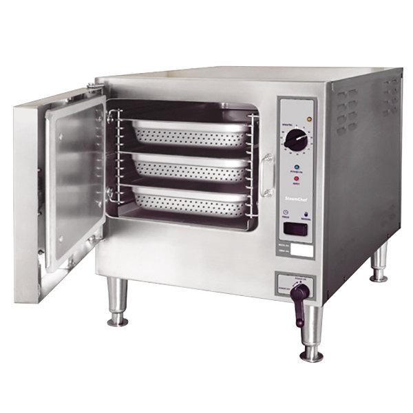 Cleveland 22CET3.1 SteamChef 3 Pan Electric Countertop Steamer - 440/480V, 3 Phase Main Image 1