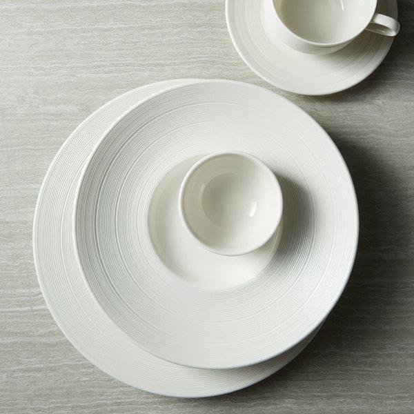 Oneida L5650000117c Manhattan 6 1 4 Warm White Porcelain Wide Rim Coupe Plate 48 Case