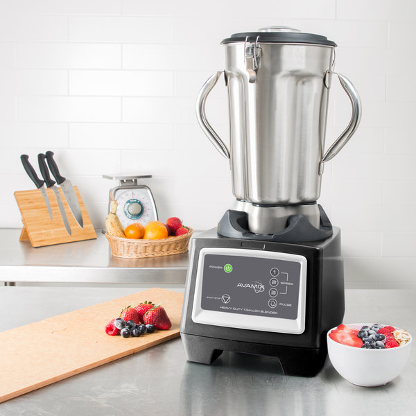 Avamix BX1GSS2J 3 3/4 hp 1 Gallon Stainless Steel High Volume Commercial Food Blender with Two Jars - 120V