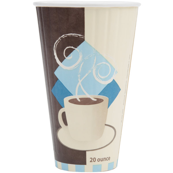 Dart Solo IC20-J7534 Duo Shield 20 oz. Poly Paper Hot Cup - 350/Case