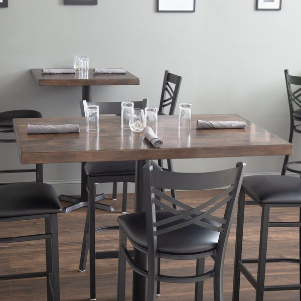 Lancaster Table Seating 30 X 48 Recycled Wood Butcher Block Top With Espresso Finish