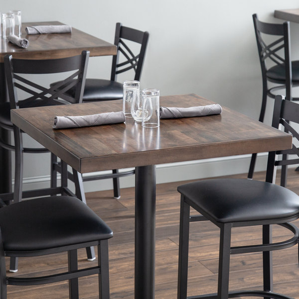 """Lancaster Table & Seating 30"""" x 30"""" Recycled Wood Butcher Block Table Top with Espresso Finish Main Image 3"""