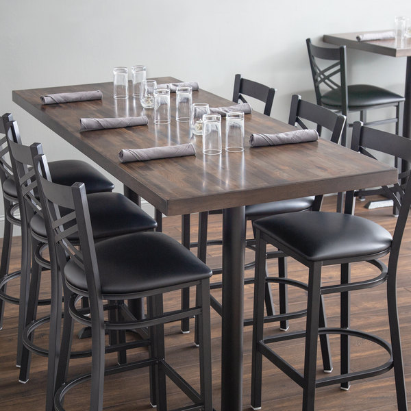 Astounding Lancaster Table Seating 30 X 72 Recycled Wood Butcher Block Table Top With Espresso Finish Beutiful Home Inspiration Cosmmahrainfo
