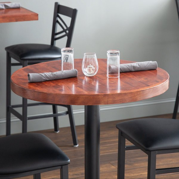 Astonishing Lancaster Table Seating 30 Round Recycled Wood Butcher Block Table Top With Mahogany Finish Beutiful Home Inspiration Cosmmahrainfo