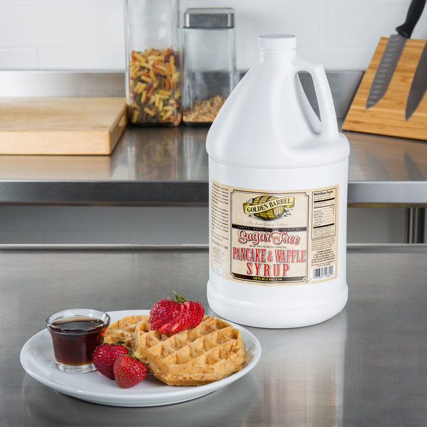 Golden Barrel Sugar Free Pancake and Waffle Syrup 1 Gallon Container Main Image 2