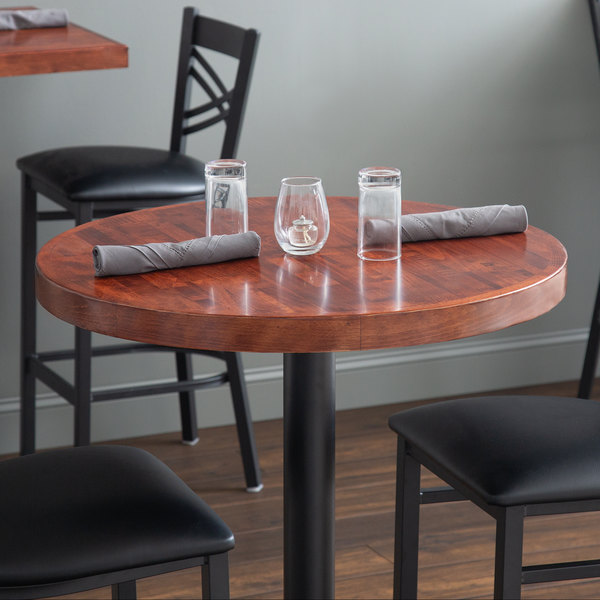 Super Lancaster Table Seating 24 Round Recycled Wood Butcher Block Table Top With Mahogany Finish Beutiful Home Inspiration Cosmmahrainfo
