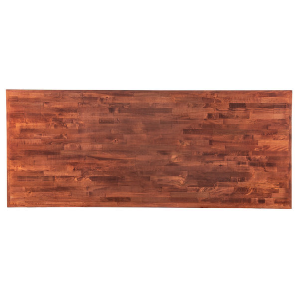 Brilliant Lancaster Table Seating 30 X 72 Recycled Wood Butcher Block Table Top With Mahogany Finish Beutiful Home Inspiration Cosmmahrainfo