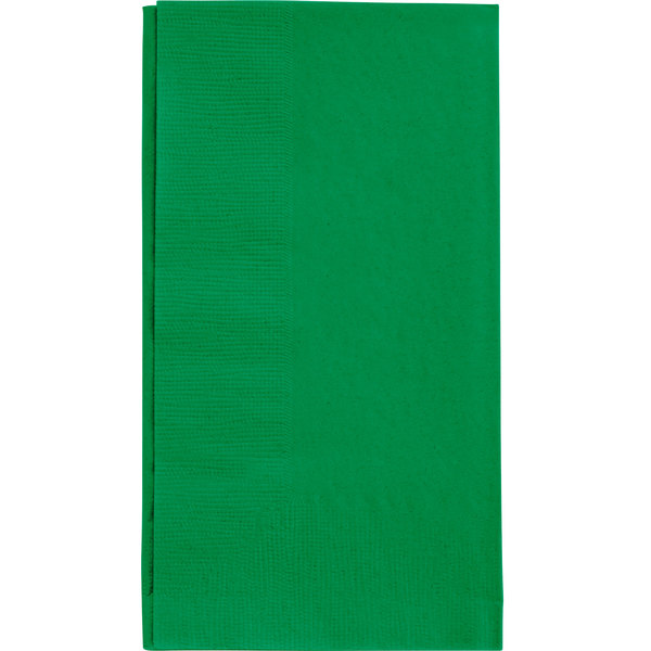 Festive Green Paper Dinner Napkin, Choice 2-Ply Customizable, 15 inch x 17 inch - 1000/Case
