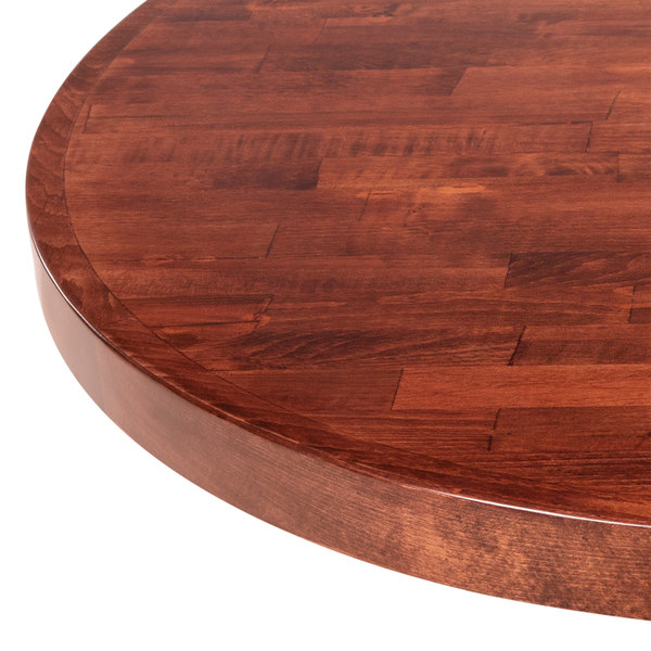 Awesome ... Round Recycled Wood Butcher Block Table Top With Mahogany Finish. Main  Picture · Image Preview · Image Preview ...