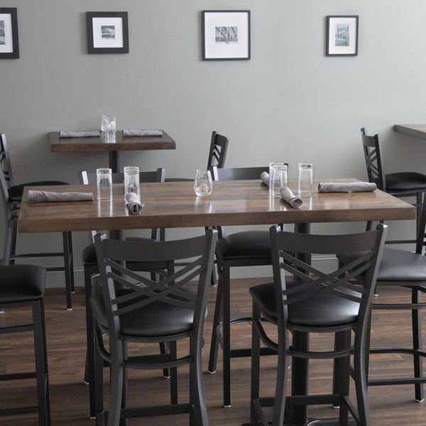 Lancaster Table Seating X Recycled Wood Butcher Block - 30 x 60 dining room table