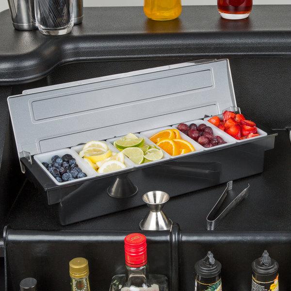 Choice 6-Compartment Condiment Bar Main Image 3