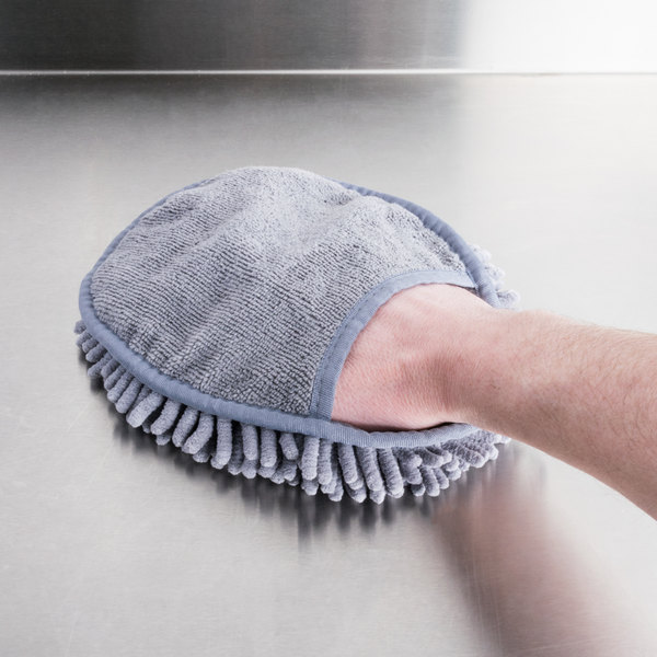 Unger MMIRG SmartColor Gray Micro Mitt Heavy-Duty Two-Sided Microfiber Cleaning Mitt