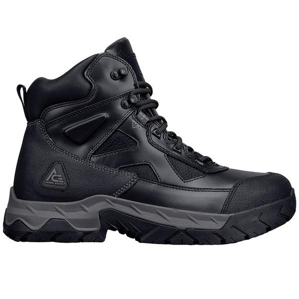 b9e36a9e998 ACE 74063 Glacier Men's Black Water-Resistant Steel Toe Non-Slip Work Boot