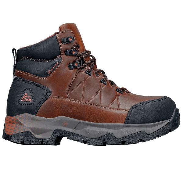 ACE 74584 Highline Women's Brown / Peach Waterproof Aluminum Toe Non-Slip Work Boot