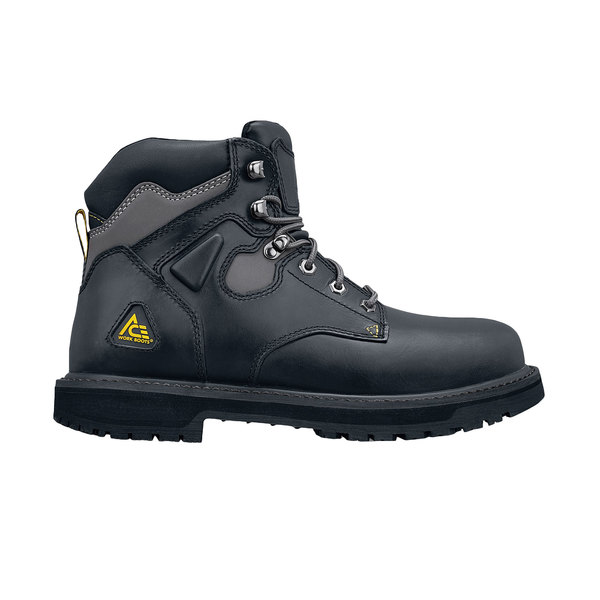 ACE 76745 Providence Men's Black Water-Resistant Steel Toe Non-Slip Work Boot Main Image 1