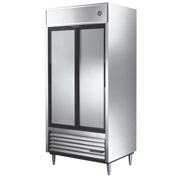 "True TSD-33 40"" Two Section Solid Sliding Door Reach in Refrigerator"