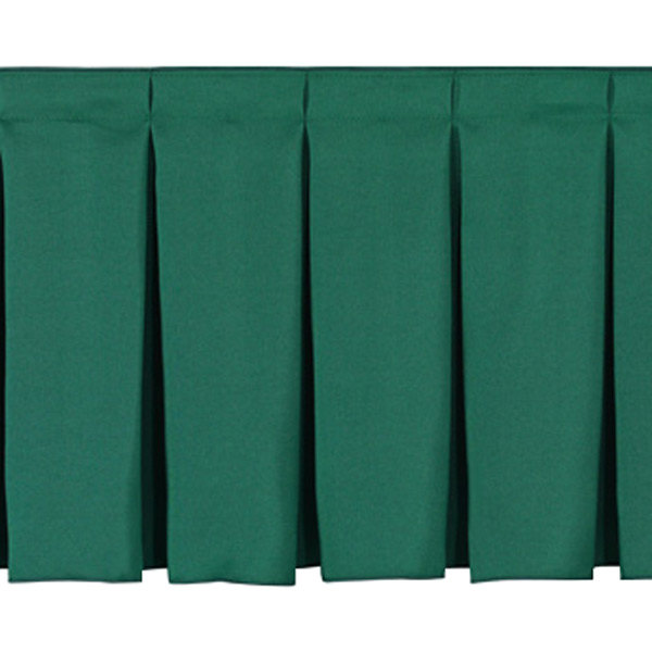 "National Public Seating SB8-96 Green Box Stage Skirt for 8"" Stage - 96"" Long"