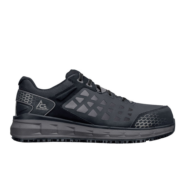 ACE 73000 Phantom Men's Black / Gray Water-Resistant Aluminum Toe Non-Slip Athletic Shoe