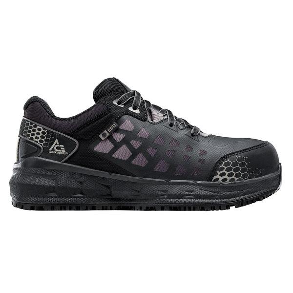 ACE 74378 Aster Women's Black / Gray Water-Resistant Aluminum Toe Non-Slip Athletic Shoe