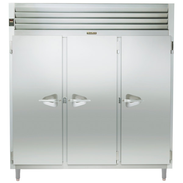 Traulsen AHF332WP-FHS 83.2 Cu. Ft. Solid Door Three Section Reach In Pass-Through Heated Holding Cabinet - Specification Line
