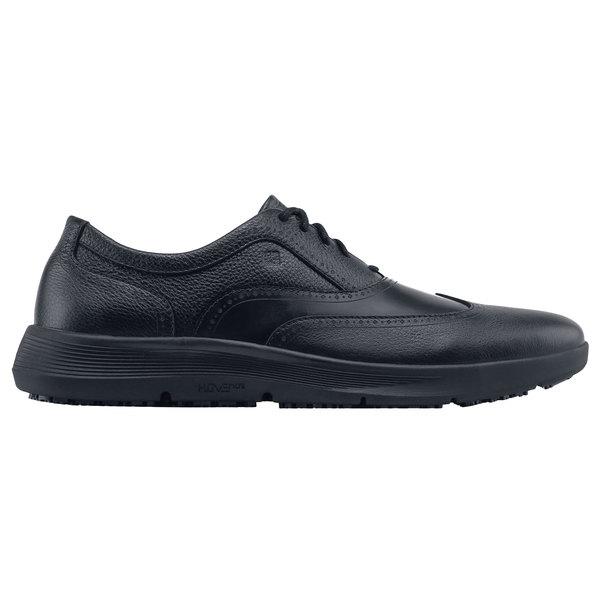 Shoes For Crews 41658 Atticus Men's Black Water-Resistant Soft Toe Non-Slip Hoverlite Shoe