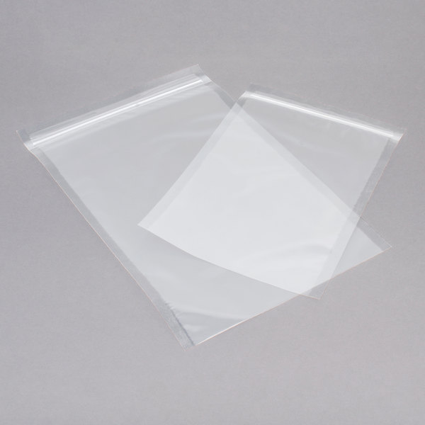 """ARY VacMaster 50721 10"""" x 15"""" Chamber Vacuum Packaging Bag with Zipper 3 Mil - 1000/Case"""