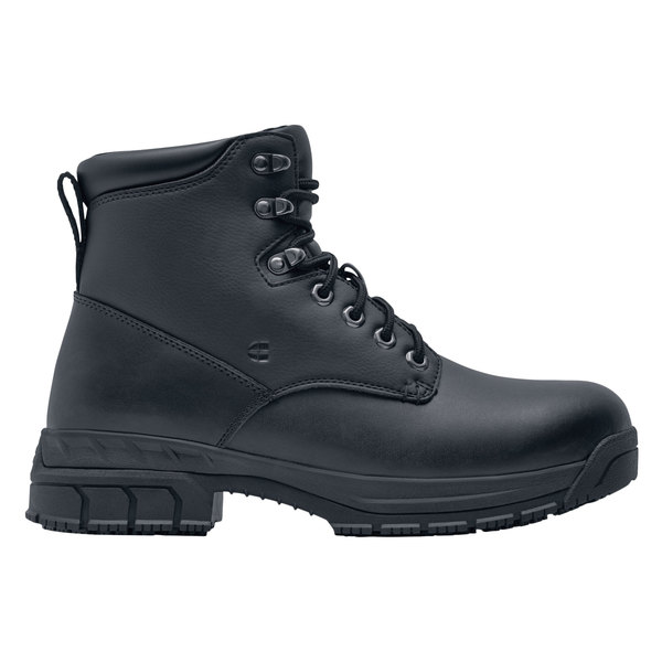 Shoes For Crews 77319 August Women's Black Water-Resistant Steel Toe Non-Slip Work Boot Main Image 1