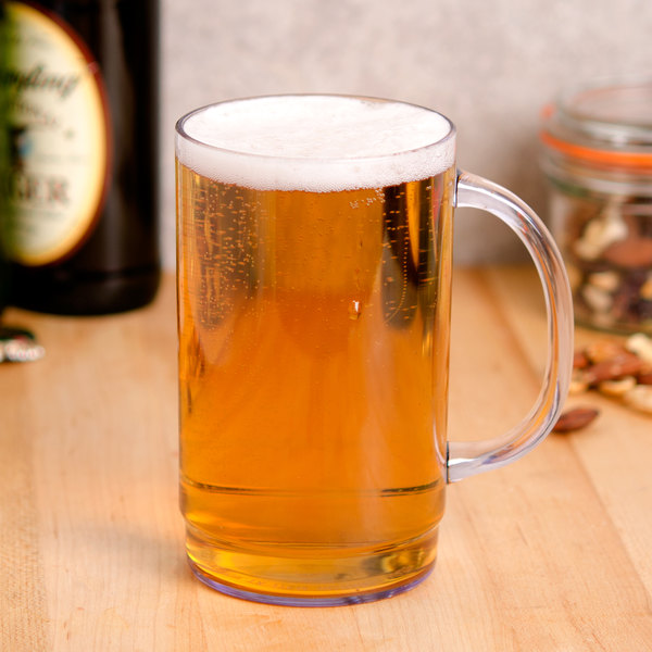 GET 00083 20 oz. SAN Plastic Customizable Beer Mug - 24/Case