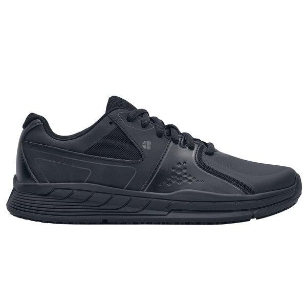 Shoes For Crews 27664 Falcon II Women's Black Water-Resistant Soft Toe Non-Slip Athletic Shoe