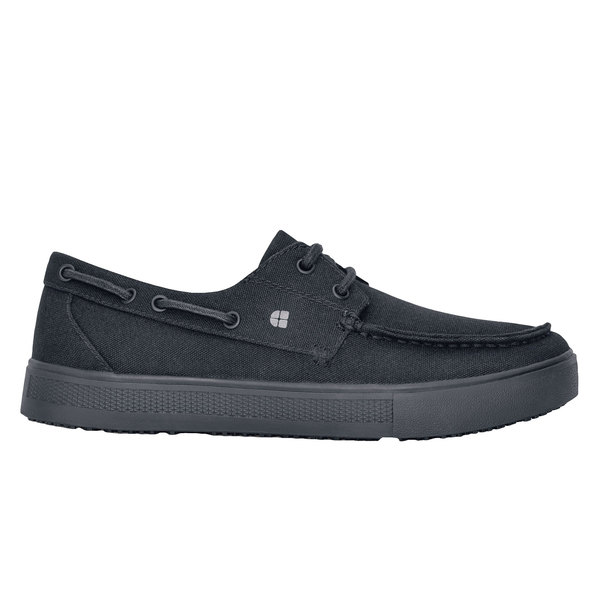 Shoes For Crews 47783 Milano Women's Black Water-Resistant Soft Toe Non-Slip Casual Shoe
