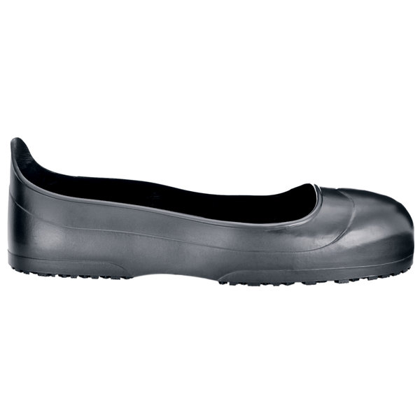 Shoes For Crews 53 Unisex Medium Width Black CrewGuard Non-Slip Overshoes - Steel Toe
