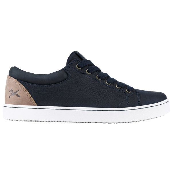MOZO M31386 Finn Men's Navy / Taupe Water-Resistant Soft Toe Non-Slip Casual Shoe