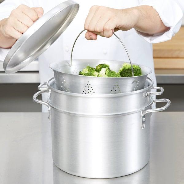 Vollrath 68126 Wear-Ever 8 Qt. Pasta Cooker / Vegetable Steamer Set Main Image 3