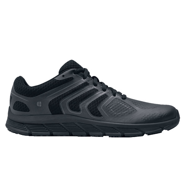 Shoes For Crews 29464 Stride Men's Black Water-Resistant Soft Toe Non-Slip Athletic Shoe